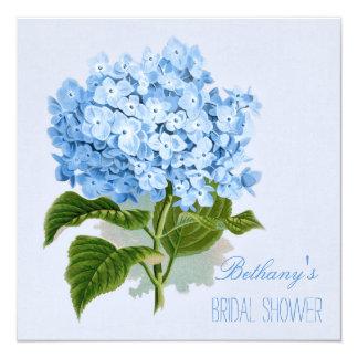 Chic Vintage Blue Hydrangea Flower Bridal Shower Card