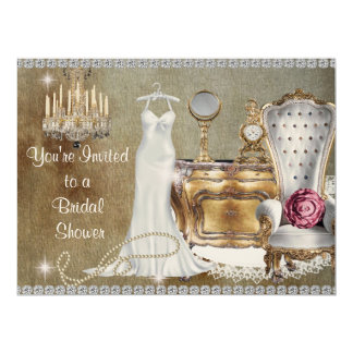 CHIC VINTAGE BRIDAL SHOWER INVITATION