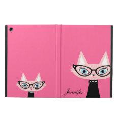 Chic Vintage Cat Ipad Air Powis Case - Pink at Zazzle