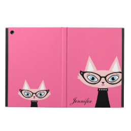 Chic Vintage Cat iPad Air Powis Case - Pink