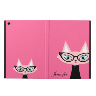 Chic Vintage Cat iPad Air Powis Case - Pink iPad Air Cases