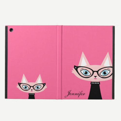 Chic Vintage Cat iPad Air Powis Case - Pink