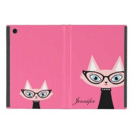 Chic Vintage Cat iPad Mini Powis Case - Pink