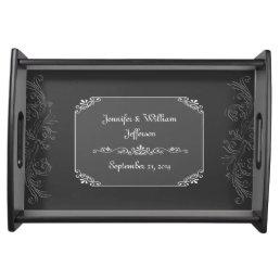 Chic Vintage Chalkboard Look Custom Serving Tray