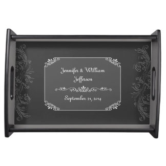 Chic Vintage Chalkboard Look Custom Serving Tray