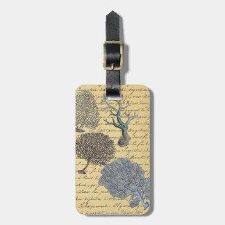 Chic Vintage Coral Paris decorative luggage tag