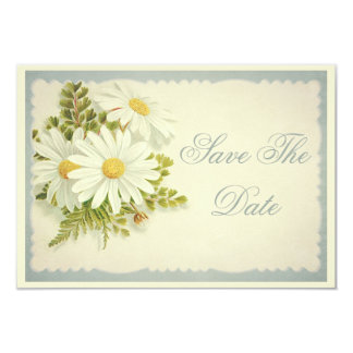 Chic Vintage Daisies Save The Date 80th Invite