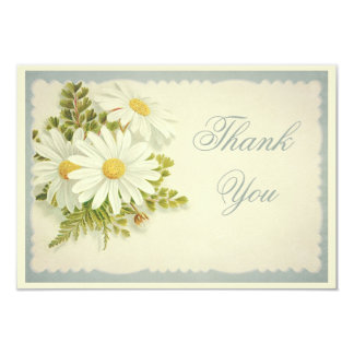 Chic Vintage Daisies Thank You Card