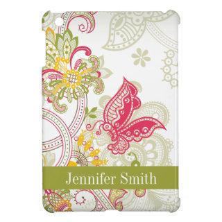 Chic vintage floral swirl paisley iPad mini case