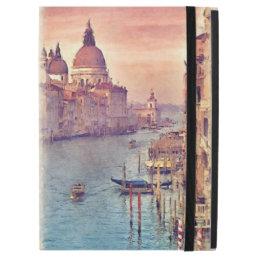 "Chic Vintage Italy Venice Canal Pastel Watercolor iPad Pro 12.9"" Case"