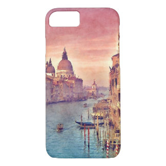 Chic Vintage Italy Venice Canal Pastel Watercolor iPhone 7 Case