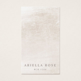 Chic Vintage Ivory White Marble Business Card