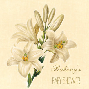 Lily baby shower invitations zazzle chic vintage lily flowers baby shower invitation filmwisefo