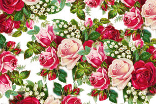 Vintage rose floral craft tissue paper zazzle chic vintage red pink roses flowers pattern tissue paper mightylinksfo