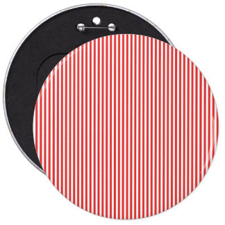 Chic Vintage Red White Stripes Pattern Button