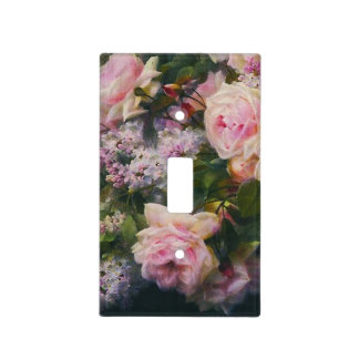 Chic Vintage Roses and Lilacs Light Switch Cover
