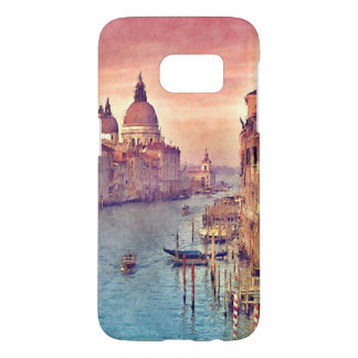 Chic Vintage Venice Canal Pastel Watercolor Art Samsung Galaxy S7 Case