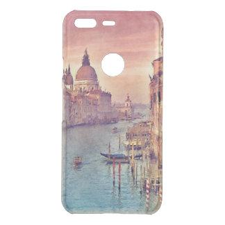 Chic Vintage Venice Canal Pastel Watercolor Art Uncommon Google Pixel Case