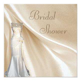 Chic Vintage Wedding Dress Bridal Shower Card