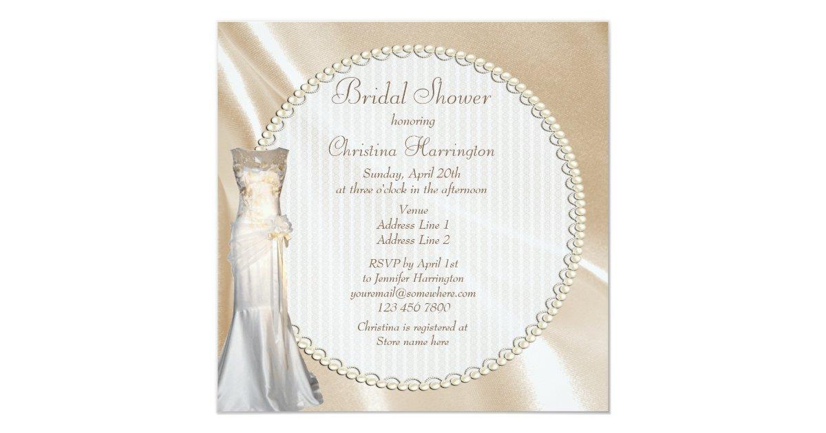Vintage Wedding Dresses Bath : Chic vintage wedding dress bridal shower card zazzle