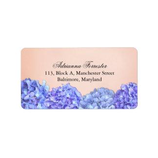 Chic Violet Hydrangeas Pink Address Label