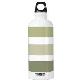 CHIC WATER BOTTLE_BOLD STRIPES_ SOFT OLIVE GREENS SIGG TRAVELER 0.6L WATER BOTTLE