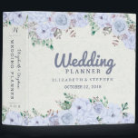 """Chic Watercolor Botanical Floral Wedding Planner Binder<br><div class=""""desc"""">Vintage Light Blue Lavender Color Watercolor Botanical Floral Wedding Planner Binder Templates. A Perfect Design For Your Big Day! All Text Style,  Colors,  Sizes Can Be Modified To Fit Your Needs.</div>"""