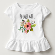Chic Watercolor Floral/Flower Girl-2 Toddler T-shirt