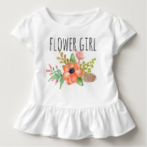 Chic Watercolor Floral/Flower Girl-3 Toddler T-shirt