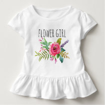Chic Watercolor Floral/Flower Girl Toddler T-shirt