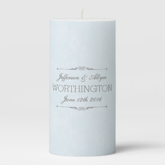 Chic Wedding or Anniversary Personalized Candle