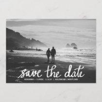 Chic Wedding Save The Date Handwritten Photo