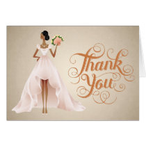 Chic Wedding Thank You Card with African American