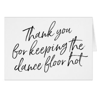Chic Wedding Thank you for DJ, Musician, Band Card