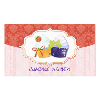 Chic Whimsical Cupcake Shop Business Cards