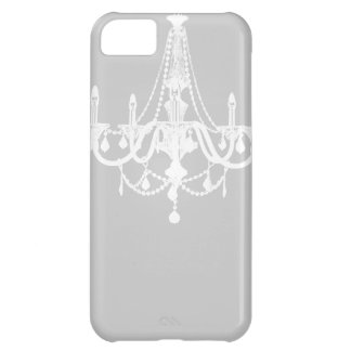 Chic White and Gray Chandelier iPhone 5C Case