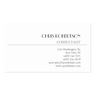 Chic White Background Modern Business Card