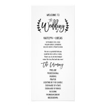Chic White Black Olive Branches Wedding Program