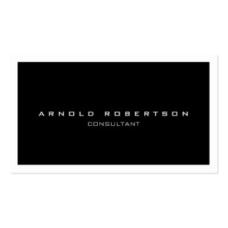 Chic White Border Black Professional Business Card