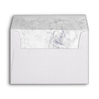 Chic White & Gray Marble Wedding Monogram Envelope
