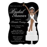 Chic White Modern Bridal Shower Invite