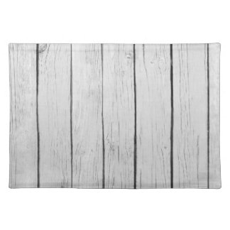 Chic White Rustic Wood Cloth Placemat