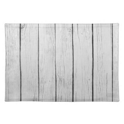 Chic White Rustic Wood Placemats