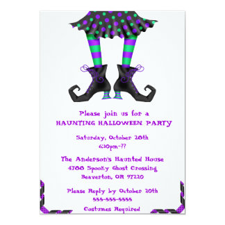Chic Wicked Witch Legs Costume Party Invitation