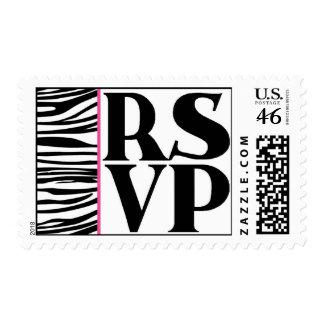 Chic Wild Zebra RSVP Postage