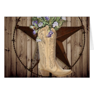 Chic Wildflower Texas Star Western country cowgirl Card