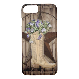Chic Wildflower Texas Star Western country cowgirl iPhone 8/7 Case