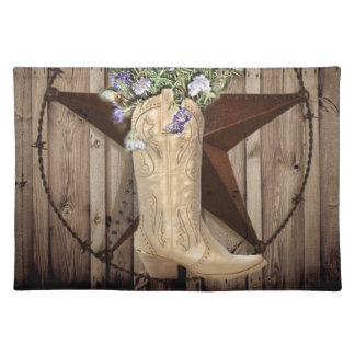 Chic Wildflower Texas Star Western country cowgirl Placemat