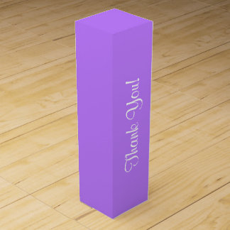 "CHIC_WINE GIFT BOX_""Thank You!_ON 191 PURPLE Wine Box"