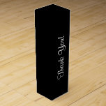 """CHIC_WINE GIFT BOX_&quot;Thank You !&quot; ON BLACK Wine Gift Box<br><div class=""""desc"""">CHIC_WINE GIFT BOX_&quot;Thank You!_WHITE TEXT ON BLACK</div>"""